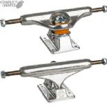 "INDEPENDENT 139 Stage 11 Silver polished Skateboard Trucks Forged 8.0"" Street"